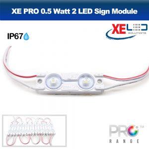XE PRO 0.5W 2 LED Sign Module IP67 12V Cool White