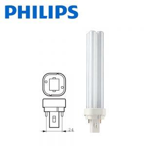 Philips Master PL-C G24d-2 2P 18W Fluorescent 840