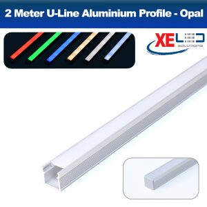 U-Line Aluminium Profile with Opal Diffuser 2 Meters