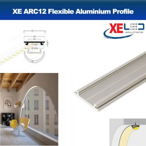ARC12 Aluminium Profile for Flexible Surface Lighting (2 Mtrs.)