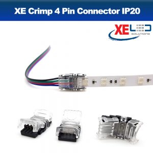 XE Crimp Power IP20 Strip 4 Pin 10mm RGB Power Connector (x1)