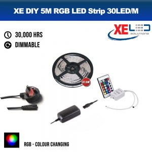 5M RGB Colour Change LED Strip DIY Value Kit