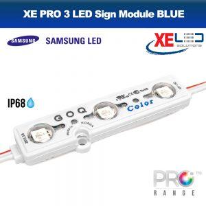 XE PRO Samsung 3 LED Sign Module IP68 12V Blue