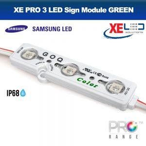 XE PRO Samsung 3 LED Sign Module IP68 12V Green