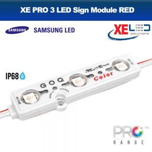 XE PRO Samsung 3 LED Sign Module IP68 12V RED