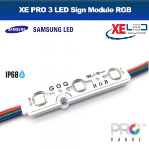 XE PRO Samsung 3 LED Sign Module IP68 12V RGB - Colour Change