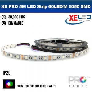 XE PRO 5M Colour Change Flexible LED Strip Lighting - 60LED/M 5050 SMD IP20 RGBW